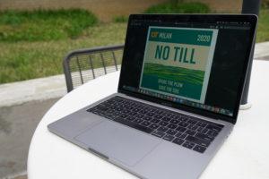 computer screen with no-till logo