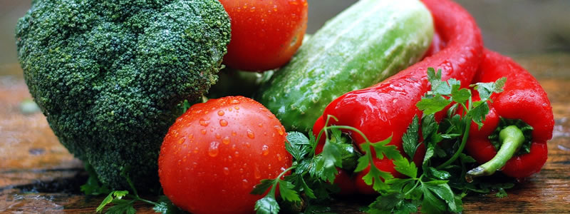 Vegetables - tomatoes, peppers, broccoli, cucumbers